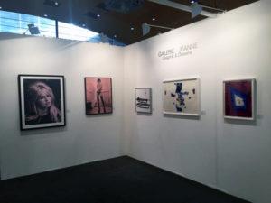 Messestand der Galerie Jeanne - Graphik & Zeichnungen, München - hier: Robert Longo, Julian Opie und Sam Francis