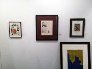 Messestand der Galerie Jeanne mit Joan Miró, Pablo Picasso, Serge Poliakoff, Horst Antes