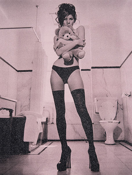 Russel Young - Kate Moss - all saints pink - Galerie Jeanne