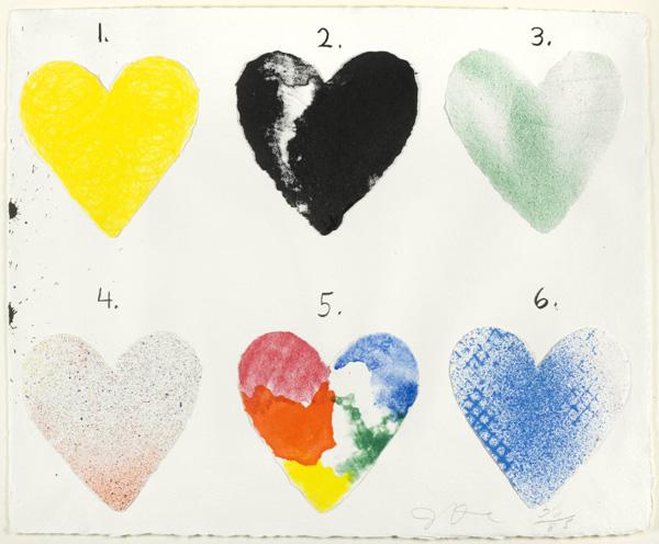 JIM DINE, Dutch Hearts, Galerie Jeanne - Muenchen