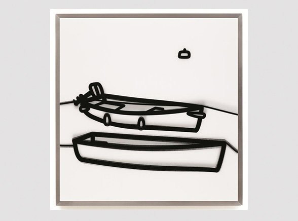 JULIAN OPIE, Boats 1, Galerie Jeanne, Muenchen