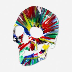 DAMIEN HIRST, 'Skull Spin Painting, Acryl auf Papier, Galerie Jeanne - Muenchen
